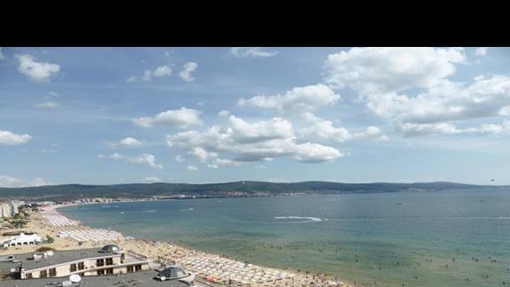 Plaża przy hotelu Burgas Beach
