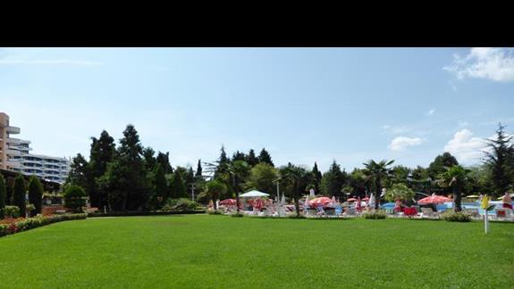 Ogród w hotelu Hrizantema