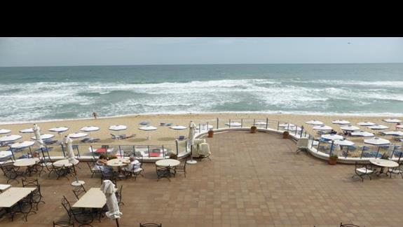 Plaża przy hotelu Azalia