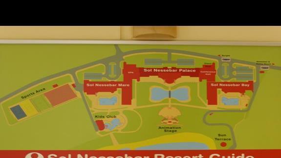 Plan hotelu Sol Nessebar Bay Mare