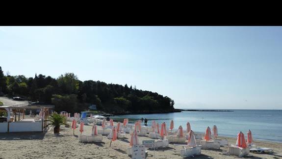 Plaża  przy hotelu Sol Nessebar Bay Mare