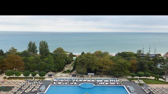 Widok z hotelu Melia Grand Hermitage