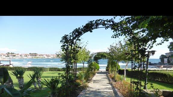 Ogród w hotelu Villa List