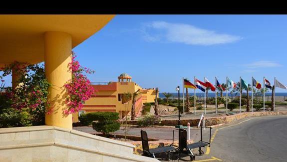 Teren hotelu El Malikia Resort Abu Dabbab