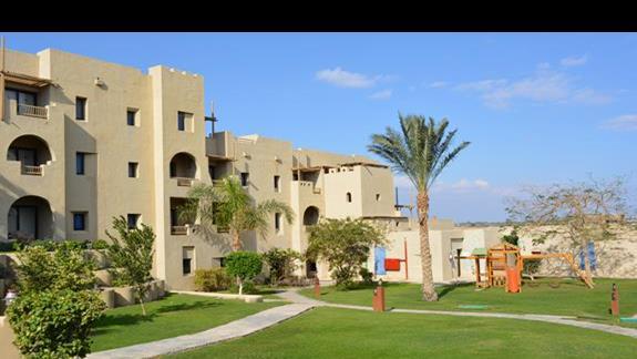 Zabudowania hotelu Marina Lodge