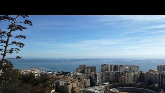 Widok na morze w przecudownej Maladze :)