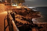 Playa del Ingles - Promenada nocą