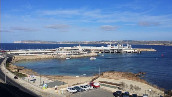 Widok z pokoju na Gozo.