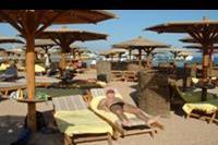 Makadi Bay - Widok na plaze i lezaki