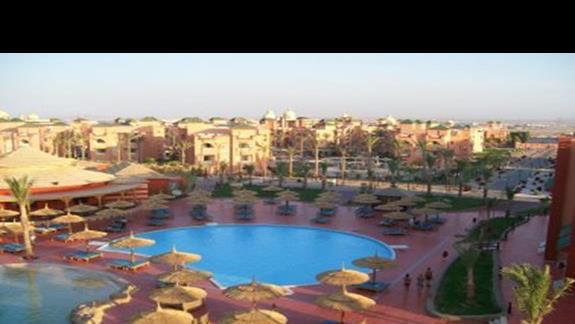 Panorama na baseny w AQUA VISTA