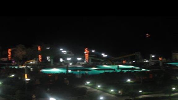 widok z balkonu nocą