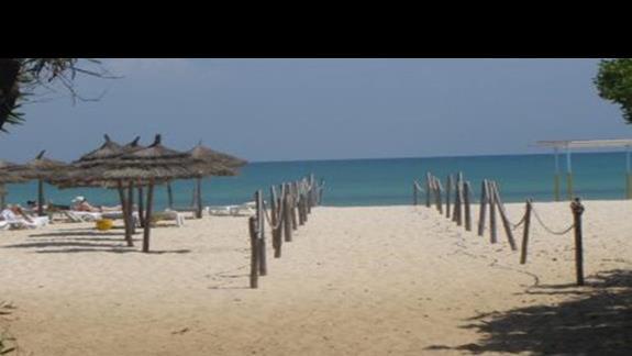Wejście na plaze