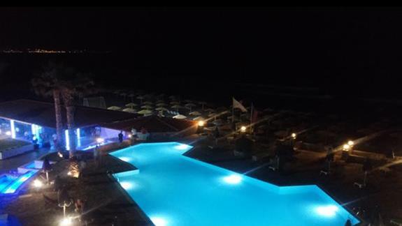 oswietlony basen