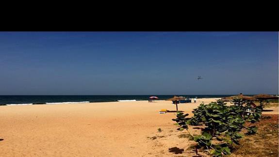 Złocisty, drobny piasek - hotel posiada piękną plażę!