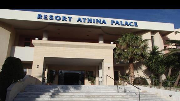 Athina Palace  główne wejście do hotelu