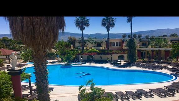 Teren basenowy w hotelu Apollon