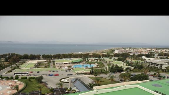 Kipriotis Panorama & Suites - panorama z tarasu na ostatnim piętrze