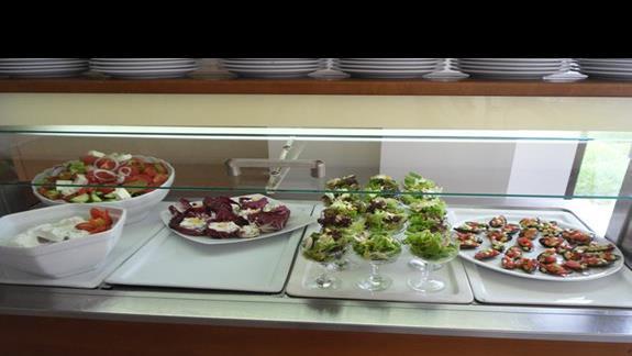 Geraniotis Beach jedzenie