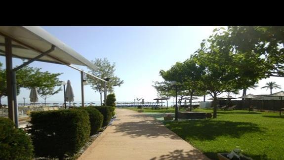 Dojscie na plaze w hotelu Sun Beach