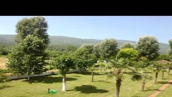 widok z pokoju w hotelu Afroditi