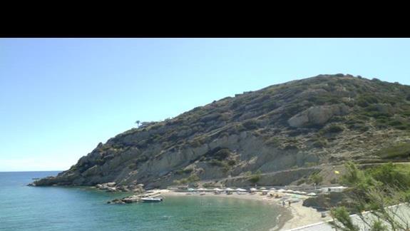 widok na plażę hotelu Istron Bay