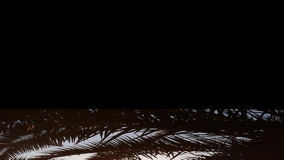Trogir plaża - zachód słońca