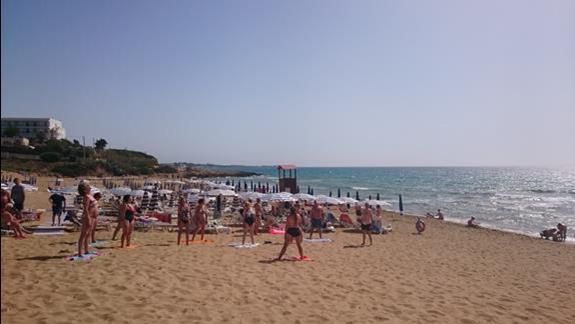 Plaza i cwiczenia na plazy.
