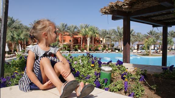 Środek hotelu- baseny