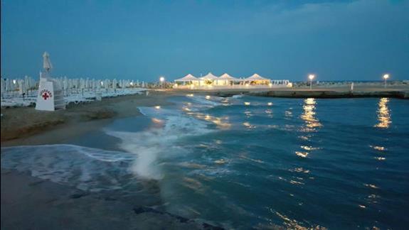 Prywatna plaża hotelowa