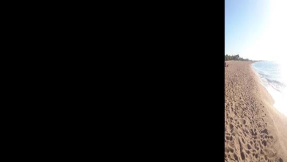 Panorama plaży i morza (na wysokości hotelu)