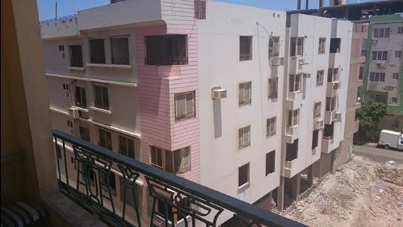 widok na apartamety