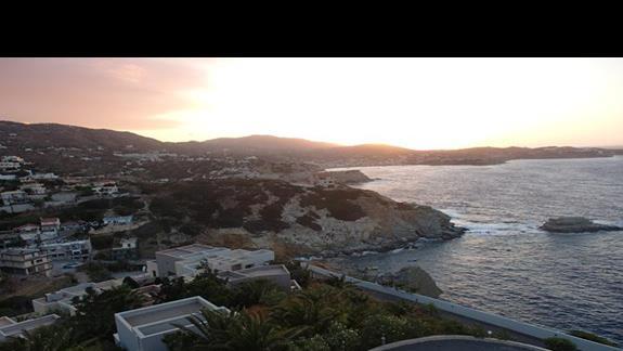 zachód słońca - widok z tawerny hotelowej
