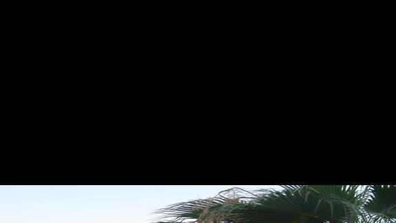 Widok na restaurację ( część tarasowa) i plażę