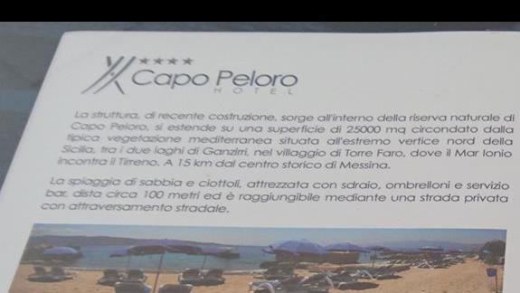 plaza wg oferty Capo Peloro