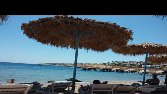 Plaża niedaleko hotelu.