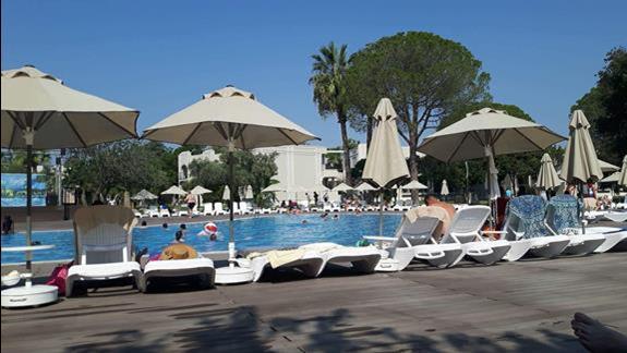 Widok na basen (od strony pool baru)