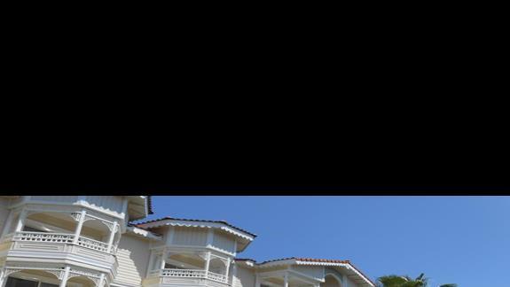 Widok na budynki hotelowe
