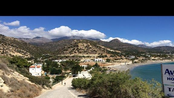 Widok z góry na zatokę