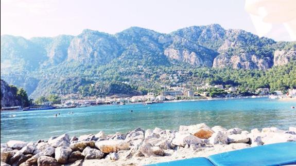 Widok z leżaków na plaży ;)
