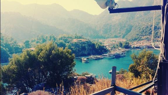 Widok z góry rozpoczynającego się portu :)