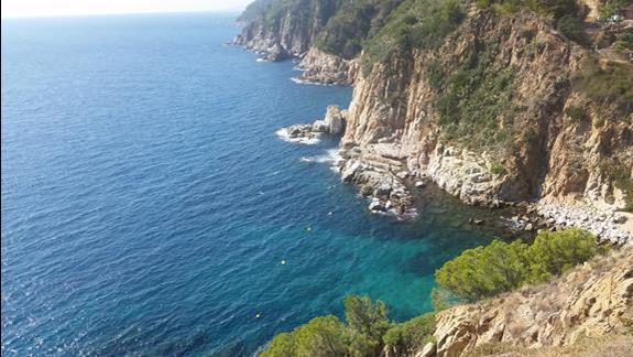 Widok ze wzgórza w Tossa de Mar