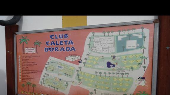 Plan sytuacyjny hotelu Club Caleta Dorada