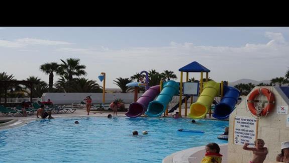 Zjeżdżalnie dla dzieci w hotelu Club Caleta Dorada