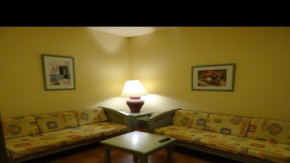 Część dzienna pokoju w Royal Suite
