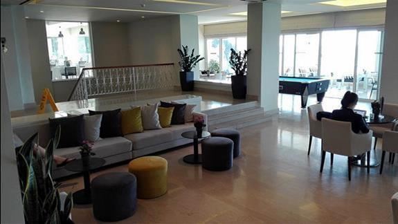 Lobby w starszej części hotelu
