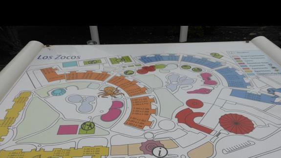 Plan hotelu Los Zocos