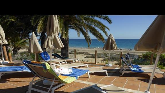Taras w hotelu Monica Beach