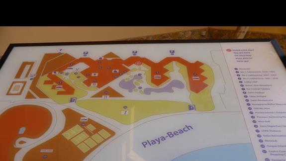 Plan  hotelu Barcelo Fuerteventura