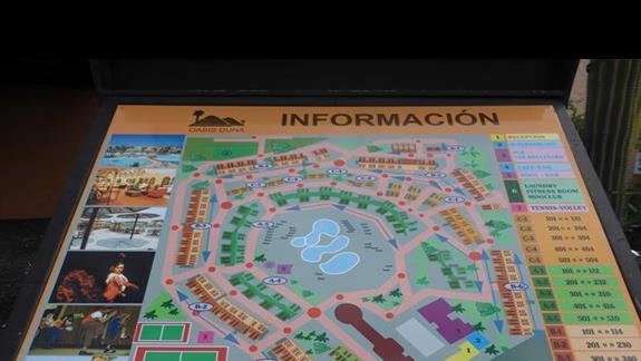 Plan hotelu Oasis Dunas