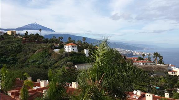 Widok na Teide z hotelowego domku